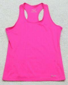 Asics Pink Sleeveless Crewneck Tank Top Tee T-Shirt Size Small Polyester I33