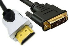 3m Metre 24k Gold Plated 1080p HDMI to DVI Dvi-d D Cable Lead Smart HD TV HDTV