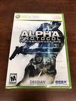 Alpha Protocol (Microsoft Xbox 360, 2010) Brand New Factory Sealed