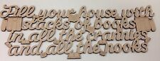 Fill Your House with Stacks of Books - mdf plaque - mothers day fathers day gift