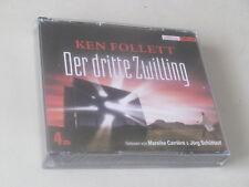 Der dritte Zwilling* Hörbuch nach Ken Follett*4 CD Box*NEU + OVP