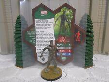 Heroscape Custom Groot Double Sided Card & Figure w/ Sleeve Marvel