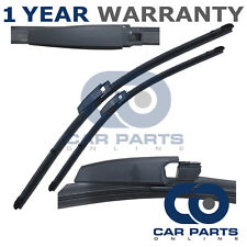 """FOR MERCEDES C CLASS W203 2003-2007 DIRECT FIT FRONT AERO WIPER BLADES 22"""" + 22"""""""