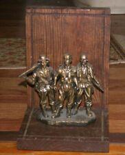 "Vietnam War Memorial Sculpture ""Brothers In Arms"" On Wooden Base"