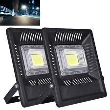 2X 50W LED Fluter Flutlicht Lampe Außen Strahler Scheinwerfer IP65 Kaltweiß Slim