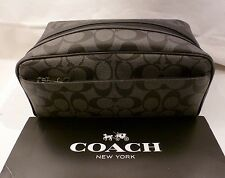 NWT COACH SIGNATURE C BLACK WEEKEND Travel Kit Toiletry Dopp Bag 58540