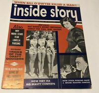 1955 Inside Story Magazine Vintage J Edgar Hoover Pat Ward Bill O'Dwyer rare
