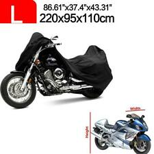 Full Black Motorcycle Scooter Cover L For Honda CB CBR CR CRF XL VFR Scooter