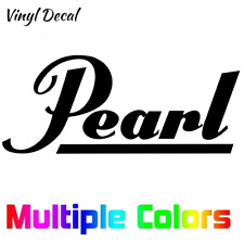 Pearl Drums Logo Decal | Band Sticker *Multiple sizes and colors*