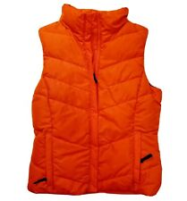 Columbia Down filled women puffer vest sz Extra small.Orange/ grey upper lining