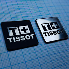 2 (TWO) TISSOT Watches - Aluminium Metallic Logo Sticker - 25.4 mm / 25.4 mm