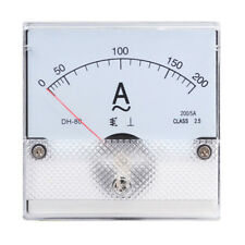 1PC Square Analog Panel AMP Current Meter AC 0-200A Ammeter Gauge DH-80 80*80