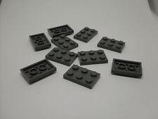 Lego 10 Teile 2 x 3 - grau - 2,4 cm - flach - Steine 3er Zubehör Platte Neu