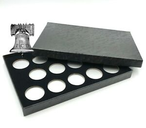 Air-tite Coin Holder Box Silver Insert White Ring + Model A Storage Capsule Case
