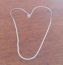 1.9 grams Collier Argent 925 .925 Silver 15.5 '' Serpentine Necklace