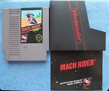 MACH RIDER NINTENDO NES 1985 w/MANUAL & SLEEVE ACTUAL PICS TESTED *REAL* GOOD