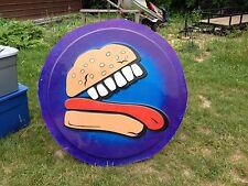 Large Burger Monster Sign From Closed Amusement Park Arcade Gameroom Hard Rock