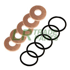 LAND ROVER DEFENDER TD5 GENUINE FUEL INJECTOR WASHERS WITH OEM SEALS, O-RINGS