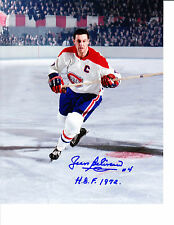 Jean Beliveau Montreal Canadiens Habs NHL Hockey 8x10 Photo Picture COA Signed