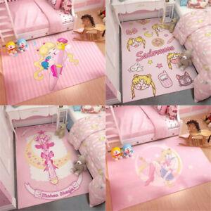 Sailor Moon Magic Pink Bed Door Rectangle Carpet Rug Ground Table Mat Decorative