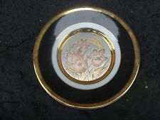 The Art of Chokin 24k Gold Edged Commemorative Plate with Butterflies 80359