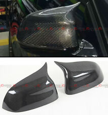 FOR 2014-2018 BMW X5 X6 CARBON FIBER SIDE MIRROR COVER CAPS REPLACEMENT- M STYLE