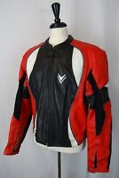 VTG Frank Thomas Black Leather Cafe Racer Motorcycle Biker Jacket 46R AA1590