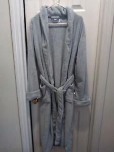 RESTORATION HARDWARE Robe Plush Luxury Long Spa Light Blue Women's Medium
