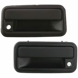 NEW Outside Front Door Handles Set LH RH Black for 98-05 S10 BLAZER JIMMY SONOMA