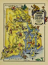 Rhode Island Antique Vintage Pictorial Map