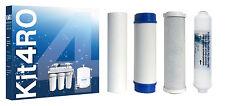 Kit de 4 cartuchos para sustitución en equipos de osmosis inversa