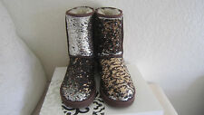 Ugg UGGS 1003387 Brown Leopard Sparkles Sequins Women's Boots size 7 US Rare