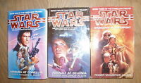 * 3 CORELLIAN TRILOGY STAR WARS BOOKS by ROGER MACBRIDE ALLEN * UK POST £3.25*PB