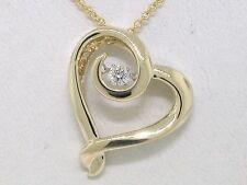 Diamant Brillant Anhänger Gelbgold Gold dancing diamond 0,11ct incl.Kette