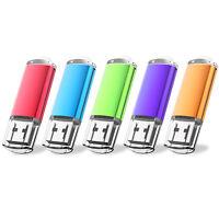 5PCS/LOT 1GB-32GB USB Flash Drives Flash Memory Stick Thumb Pen Storage 5 Colors