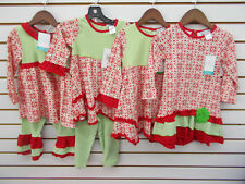 Infant, Toddler, & Girls Tara Collection Assorted Red & Green Outfits Size 12m-5