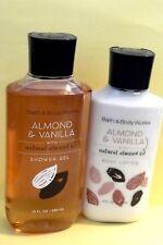 "Bath & Body Works ""Almond & Vanilla"" lotion & shower gel"