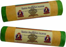 AROMATIC TIBETAN MEDITATION INCENSE JOSS STICKS PACK OF 2 TUBES