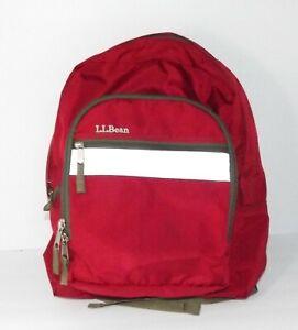 Vintage LL Bean Backpack Light Reflective Front Red Multi Pocket