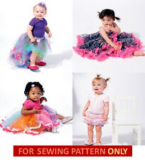 RETIRED SEWING PATTERN! BABY GIRL BOUTIQUE STYLE SKIRT~RUFFLED SHORTS~TUTUS!