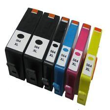 6x HP 564XL Reman Ink Cartridges for Photosmart 3070/5510/5520/6510/6520/7510