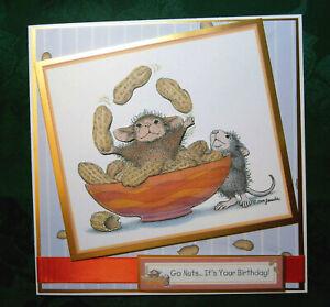 Decoupage `House Mouse` birthday card