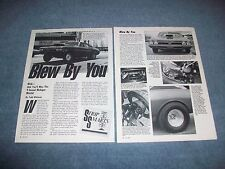 """1968 Chevelle Malibu Drag Car Vintage Article """"Blew By You"""""""
