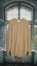 Saks Fifth Avenue 100%  Camel Hair Waffle Knit Sweater. Sz XL Made in Scotland.