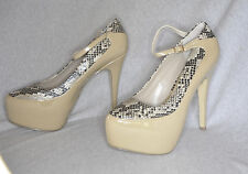 """Sole Obsession """" Hairpin"""" nude patent hi-heel pump - Size 11 w/5.75"""" heel - New"""