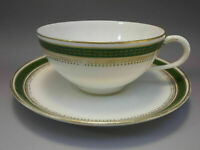 Wm Guerin W.G.&Co Limoges France Tea Cup and Saucer Set Green Gold China