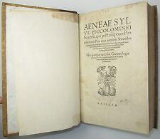 Opera Quae Extant Omnia Piccolomini Pope Pius II FIRST COLLECTED ED 19 Maps 1551