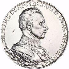 Jäger 111 Preußen 2 Mark Silber Regierungsjubiläum 1913 Wilhelm II in Münzkapsel