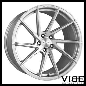 """19"""" 20"""" STANCE SF01 SILVER FORGED CONCAVE WHEELS RIMS FITS CHEVROLET C7"""