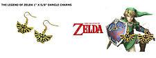 The Legend of Zelda Triforce Dangle Earrings W/Gift Box USA Seller